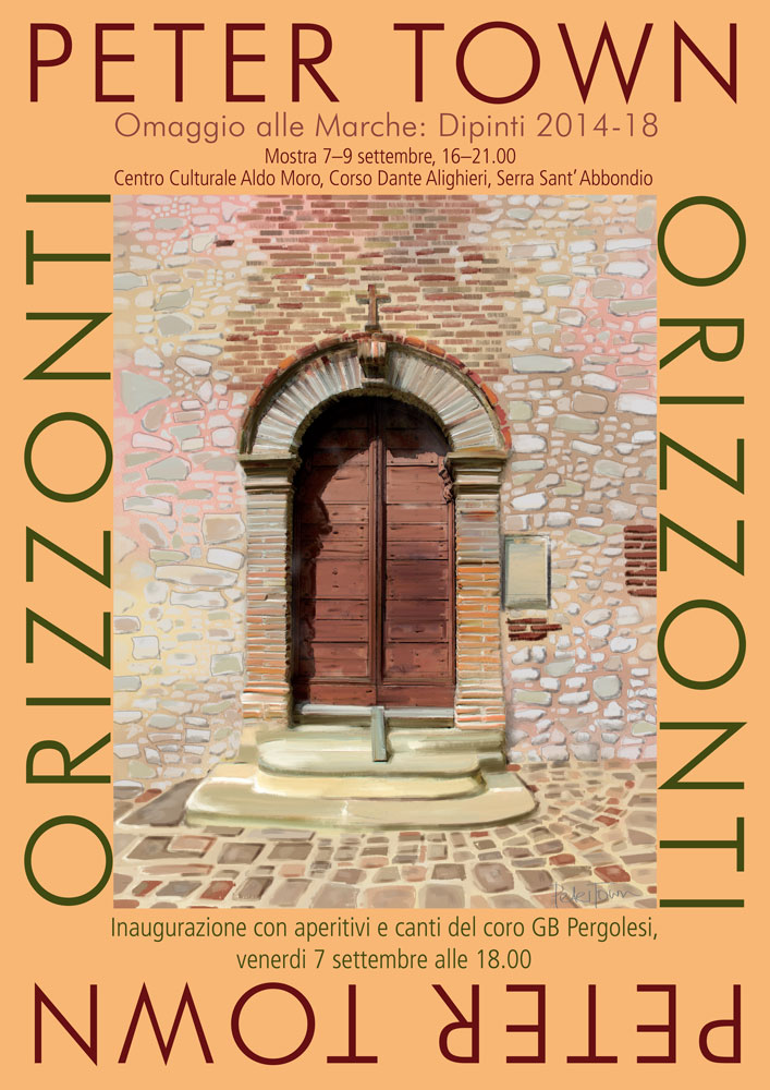 ORIZZONTI poster for exhibition
