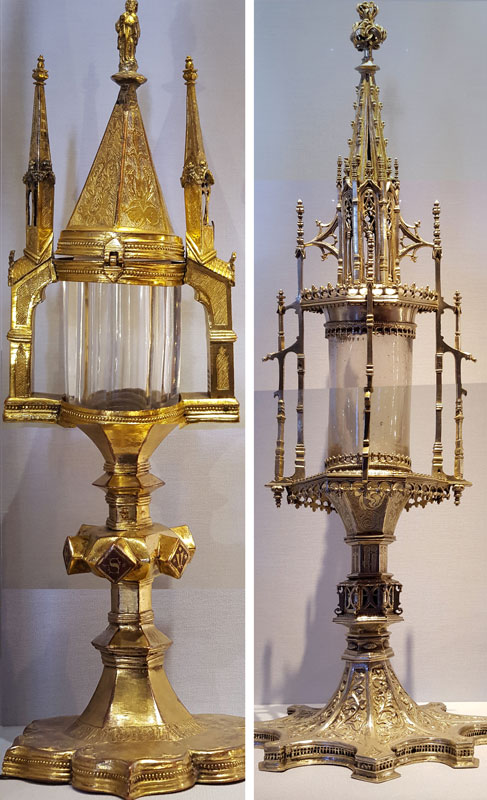 Comparison of monstrances for reference