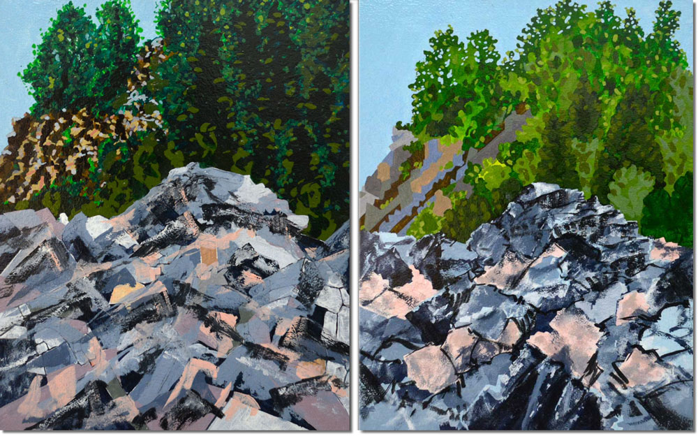Paintings of rocks